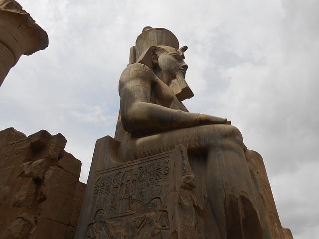 socha v Egyptě