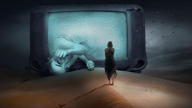 televize a žena