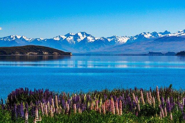 Čiré jezero Nového Zélandu